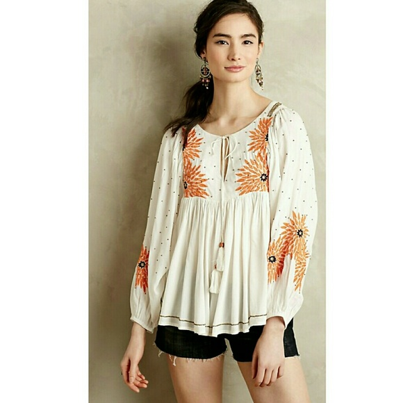 Anthropologie Tops - 🚫Sold🚫Anthropologie Floreat Austral Peasant Top